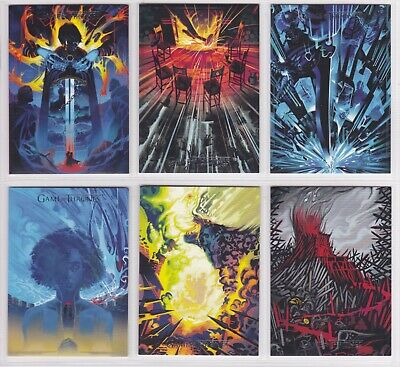 Game Of Thrones Season 8, Beautiful Death Chase Card Set BD68-73