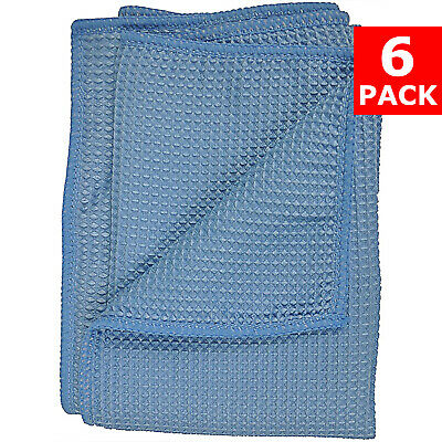 """Large Gray 16/""""x24/"""" Waffle Weave Thirsty Microfiber Deluxe Drying Towel Auto Home"""