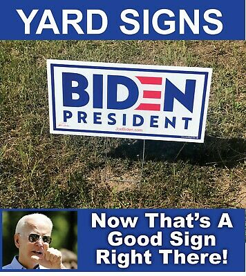 50 Joe Biden 2020 Campaign Political Yard Signs with Wire Stands