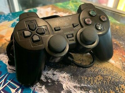 Genuine / Sony Playstation 2 (Ps2) Dualshock 2 Wired Controller In Black