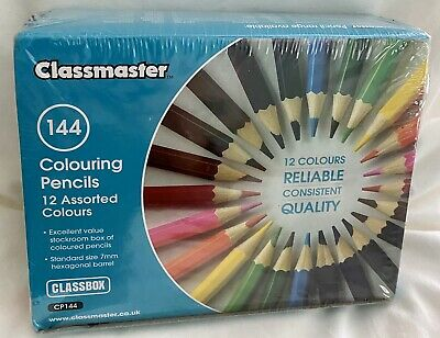 CLASSMASTER Colouring Pencils - Set of 144 - Brand New & Sealed In Box