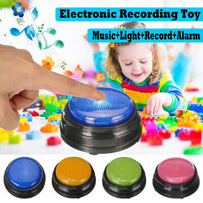 Squeeze LED Recordable Talking Sound Button Game Buzzer For Kids Interactive Red