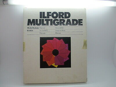 "ILFORD MultiGrade Box Set of 12 Filters 6""x6""  6X6 - New  Old Stock"