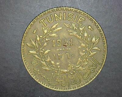 Tunisia 1941 One Franc Km247 Extremely Fine ~Wc841