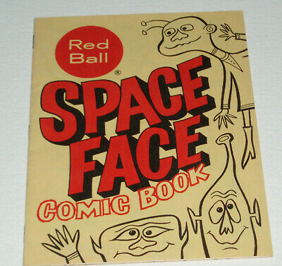 1960's Red Ball Jets Shoes Space Face Coloring Comic Book premium