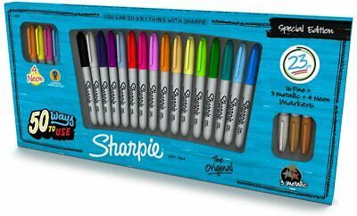 SHARPIE Special Edition 23 Piece Permanent Marker Pack - Incl 4 Neon, 3 Metallic