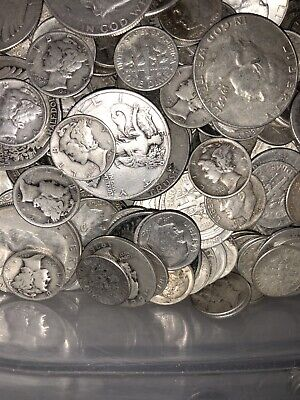 90% Junk Silver US Coins Assorted Lot of 1 Oz-Pre 1965-No Clad Or Nickels