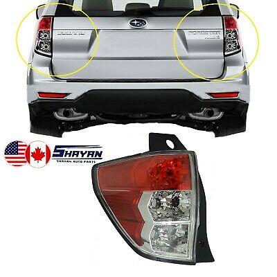 For: 2008 2009 2010 2011 2012 Subaru Forester Tail Light Right Hand / Passenger