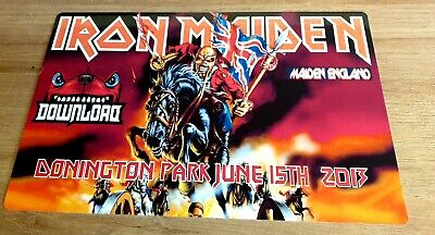 Iron Maiden-Download Festival 2013-Donington 12X8 Metal Sign