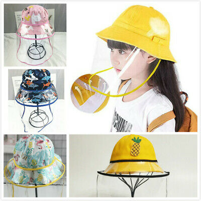 Kids Face Sheild Hat ANTI Splash Spray Protection Safety Face Shield Windproof