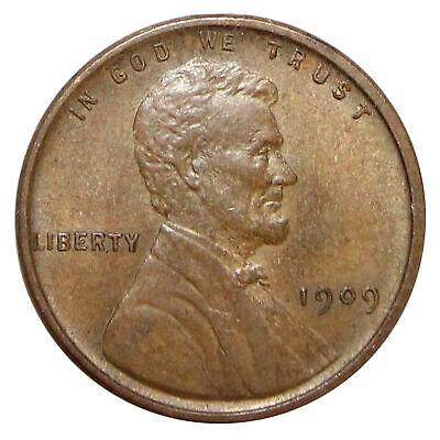 1909 VDB -P Lincoln Wheat Cent Penny - Extra Fine, XF