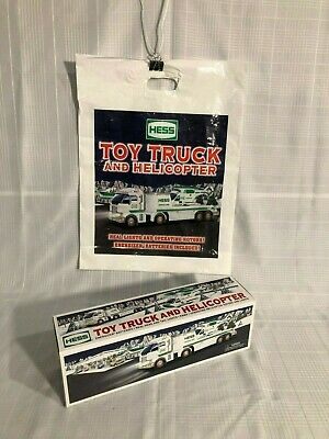 2006 Hess Toy Truck and Helicopter -NIB & BONUS * Original Bag!! *