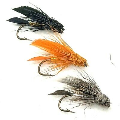STUNNING QUALITY! 3 x MUDDLER MINI SOLDIER WET TROUT FISHING FLIES SIZE 10