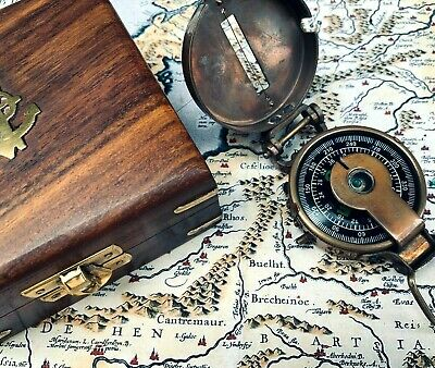Soldiers Military Thumb Compass Vintage Brass WW2 1940 Navigation World War