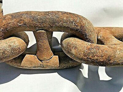 """90 Feet of Used 3/4"""" Diameter Stud Link ANCHOR CHAIN"""