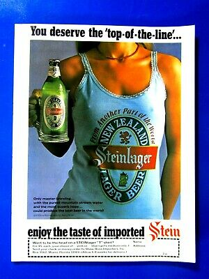 Steinlager You Deserve The Top Of The Line Original Print Ad 8.5 x 11""