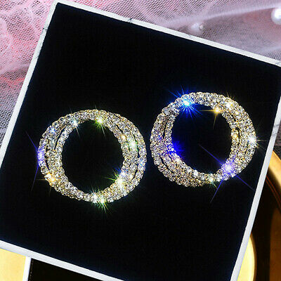 Gorgeous 925 Silver,Gold,Rose Gold Hoop Earrings for Women Jewelry A Pair/set