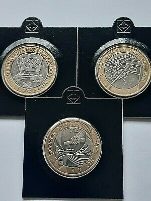Rare Olympic £2 coins- full set of 3. Beijing, London, Centenary, Rare coin hunt