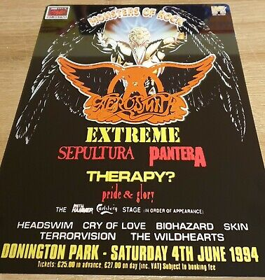 Aerosmith -Pantera Monsters Of Rock Castle Donington 1994 8X12 Inch Metal Sign