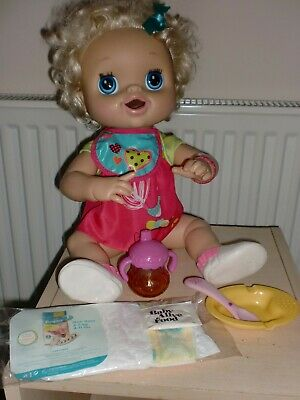Baby Alive Interactive Doll & Accessories Hasbro 2010 Talks Eats Pees Poops