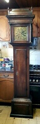 A George III Oak & Mahogany 8 day Longcase Grandfather Clock C1760