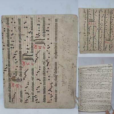 18th Century Financial Manuscript ~ 13th/14th Century Antiphonal Binding