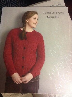 Classic Elite Yarns Pattern 854 Devon Silk//Wool 4 Sweater Styles Adult /& Child