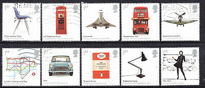 2009 GB British Design Classics SG 2887-2896 Set Of 10 Used Commemorative Stamps