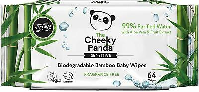 4 x  The Cheeky Panda Biodegradable Bamboo Baby Wipes