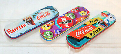 3 - Coca-Cola Ball Point Pens in Tin Cases 1996 & 1995.