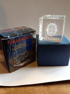 Hellraiser Pinhead Paperweight NECA 2003 Laser Engraved Acryllic 3D NEW Boxed