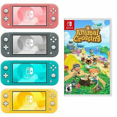 NEW Nintendo Switch Lite Animal Crossing Turquoise Gray Yellow Coral PICK COLOR