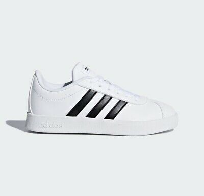 Adidas VL Court 2.0 Shoes Youth Size 6.5 = Womens Size 8 White