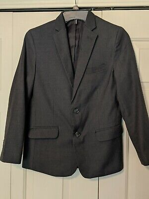 Calvin Klein Boys Gray Dress Suit Jacket Size 12