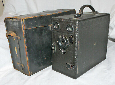 Vintage Falling Plate Box Camera With Film Holders