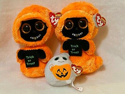 """2018 New 8.5/"""" TY Beanie Boos Grinner Halloween Ghoul Xmas Gifts Girl Stuffed Toy"""