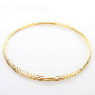 1-5M Length H62 Brass Wire Conductive Round Copper Line Uncoated Solid Bright