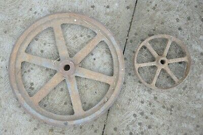 Cast iron antique fly wheels