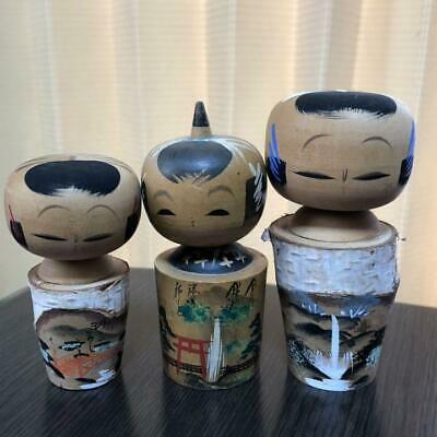 Vintage Wooden Japanese Hand Painted Kokeshi Doll Antique Objects