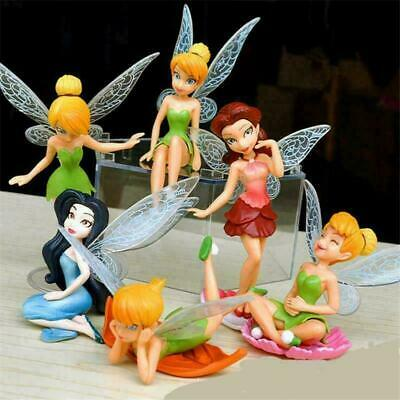6pcs/Set Tinkerbell Fairies Princess Action Figures PVC Doll Toys For Gifts a++