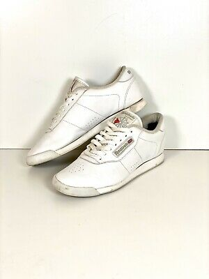 REEBOK CLASSIC WOMENS Ladies Princess White Leather Lace Up