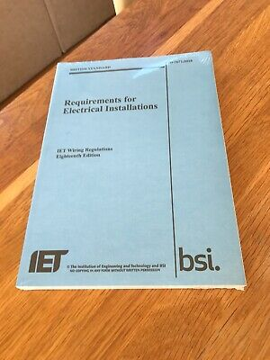 18th Edition requirements for electrical installations Book
