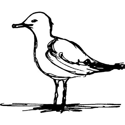 'Seagull' Rubber Stamp (RS005790)