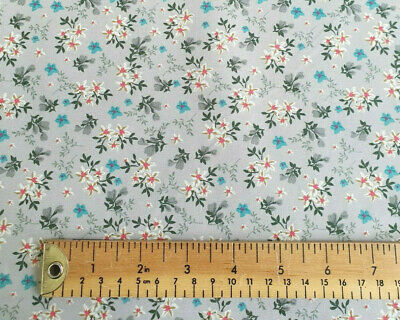 Craft Cotton Fabric Metre ~ Dandelion /& Feather Floral Fabric ~ Copen Ochre Jade