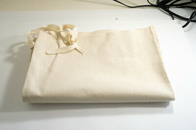 """10 CANVAS COIN BANK DEPOSIT BAGS WITH SEWN-ON TIES 12/"""" BY 19/"""" MONEY SACKS BAG"""