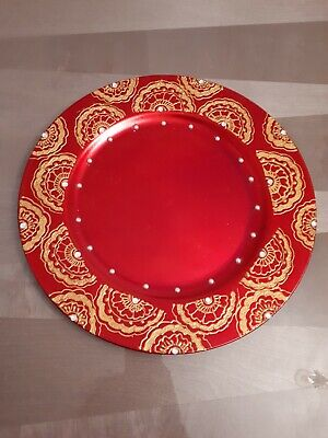 mehndi charger plate set of 8