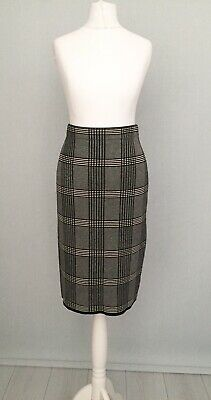 Yours Clothing Womens Check Pencil Skirt Midi Smart Work Formal Uk Plus Size