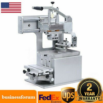 Manual Pad Printing Machine Pad Printer Opened Ink Dish System Plate Pad DIY USA