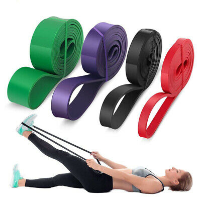 208cm Resistance Bands Assisted Pull Up Power Exercise Stretching Gym Fitness UK