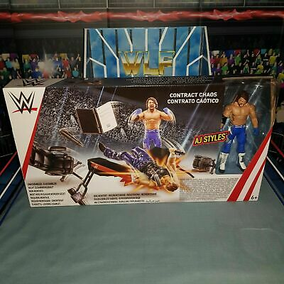 Contract Chaos Accessories for WWE Wrestling Figures Mattel 2 x Podiums